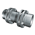 Torsionally Rigid Double Flex Couplings With Bore and Keyway