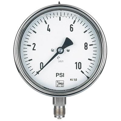 Bourdon Tube Pressure Gauges MAN_R