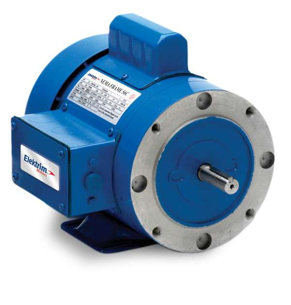 Elektrim 56C 1PH and 3PH Motors - 38CF-3-.75-36