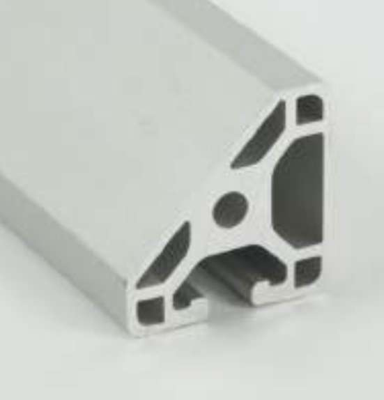Metric Aluminum Extrusion - 40mm x 45 Degree Mono Slot T-Slotted Extrusion