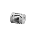 DKN-20 Miniature metal bellows coupling with clamping hubs