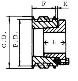 Heavy Duty Sheave - 1B34P1