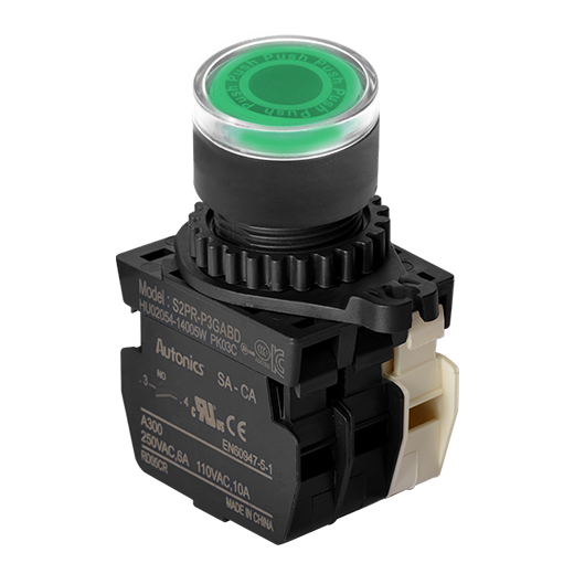 S2PR-P1GB - 22/25 mm Push Button Switches