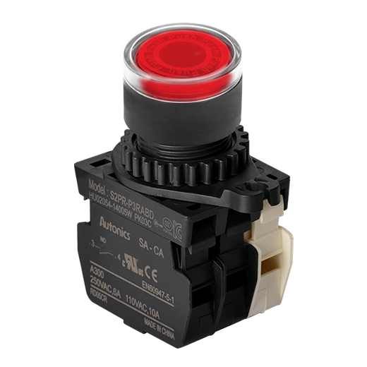 S2PR-P1R2A - 22/25 mm Push Button Switches