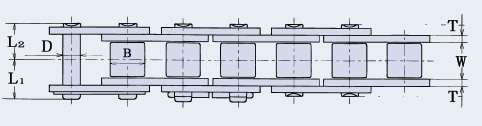 HKK 06B-SS•• - HKK Stainless Steel roller chain