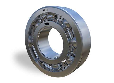 6004 -  Single Row Deep Groove Ball Bearing Open Type
